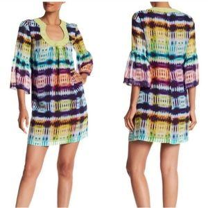 Trina Turk Silk Tie Dye Rainbow Bonita Dre…
